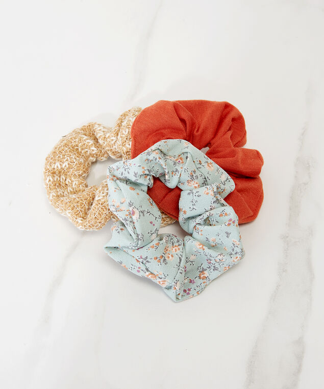 3 pack of hair scrunchies, Multi, hi-res