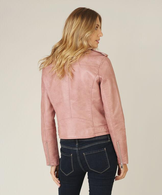 vegan leather jacket - wb, MAUVE, hi-res