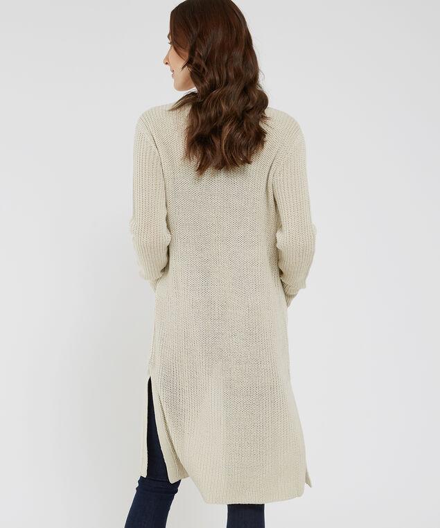 long cardigan with pockets - wb, NATURAL, hi-res