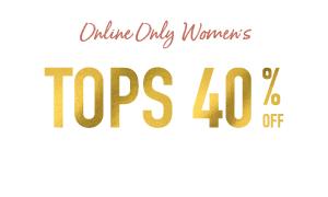 Flash Sale Women's 40% off Tops