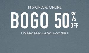 Unisex and Hoodies BOGO 50 Off