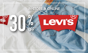 30% off Levi's - in-stores and online