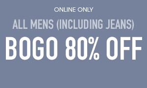 All Mens BOGO 80% Off