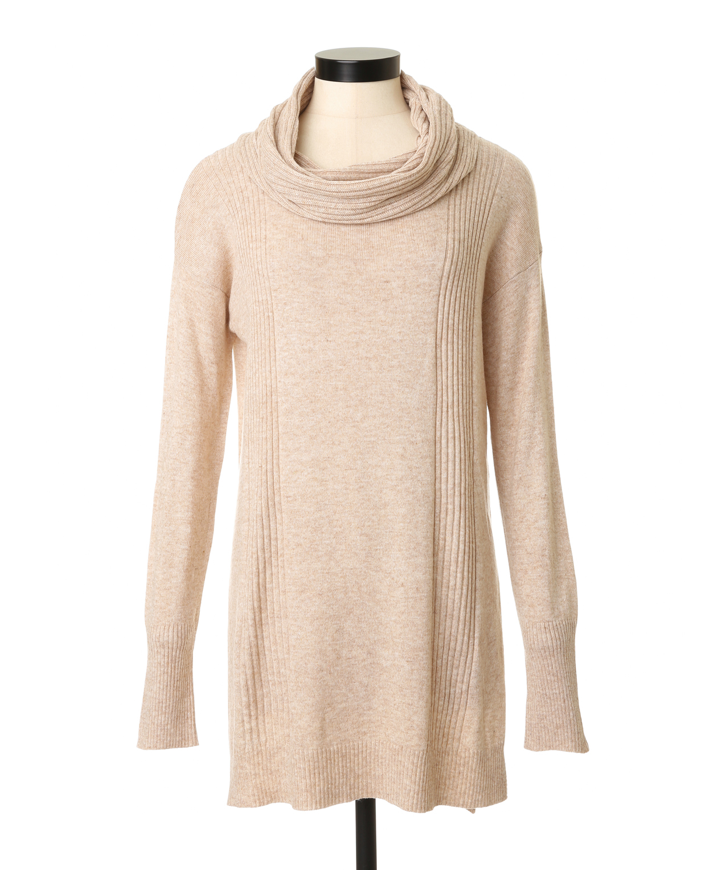 Cowl Neckline: Cowl Neck Sweater Tunic