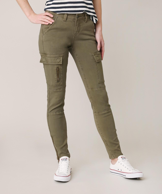 Silver Skinny Twill Cargo Silver Jeans Co