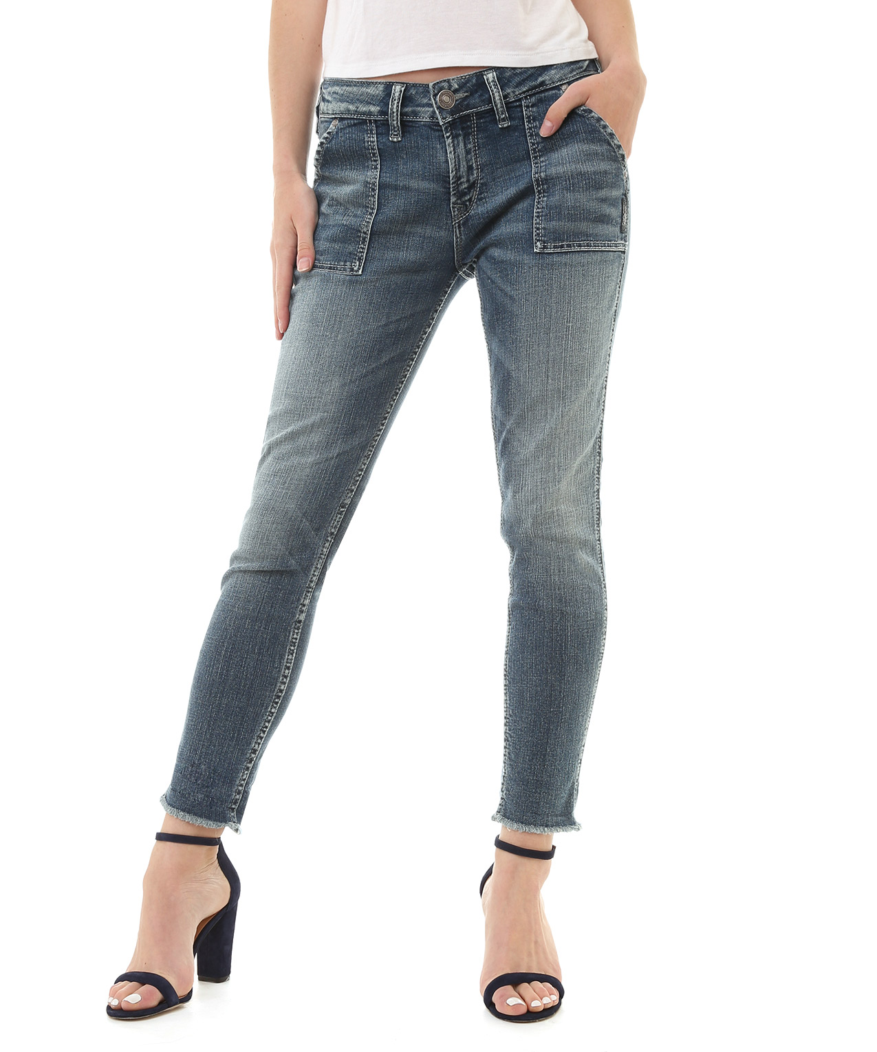 girlfriend mid rise sjl227 bootlegger exclusive | silver jeans co
