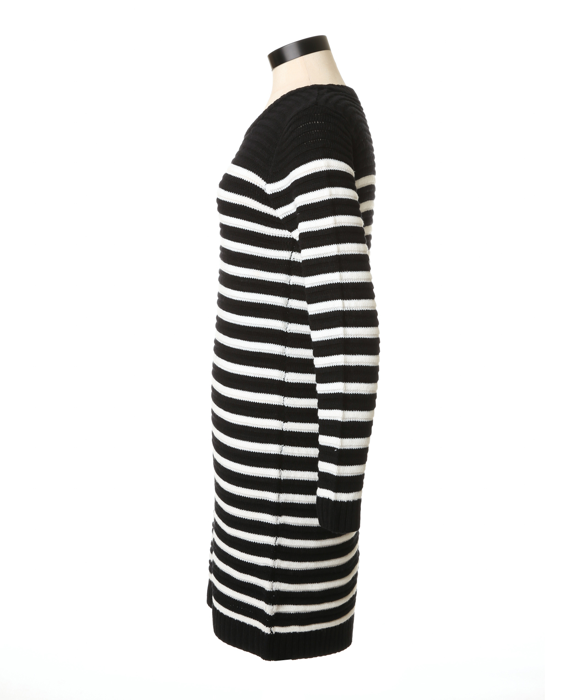 8c80b40ffa ... rib stripe sweater dress