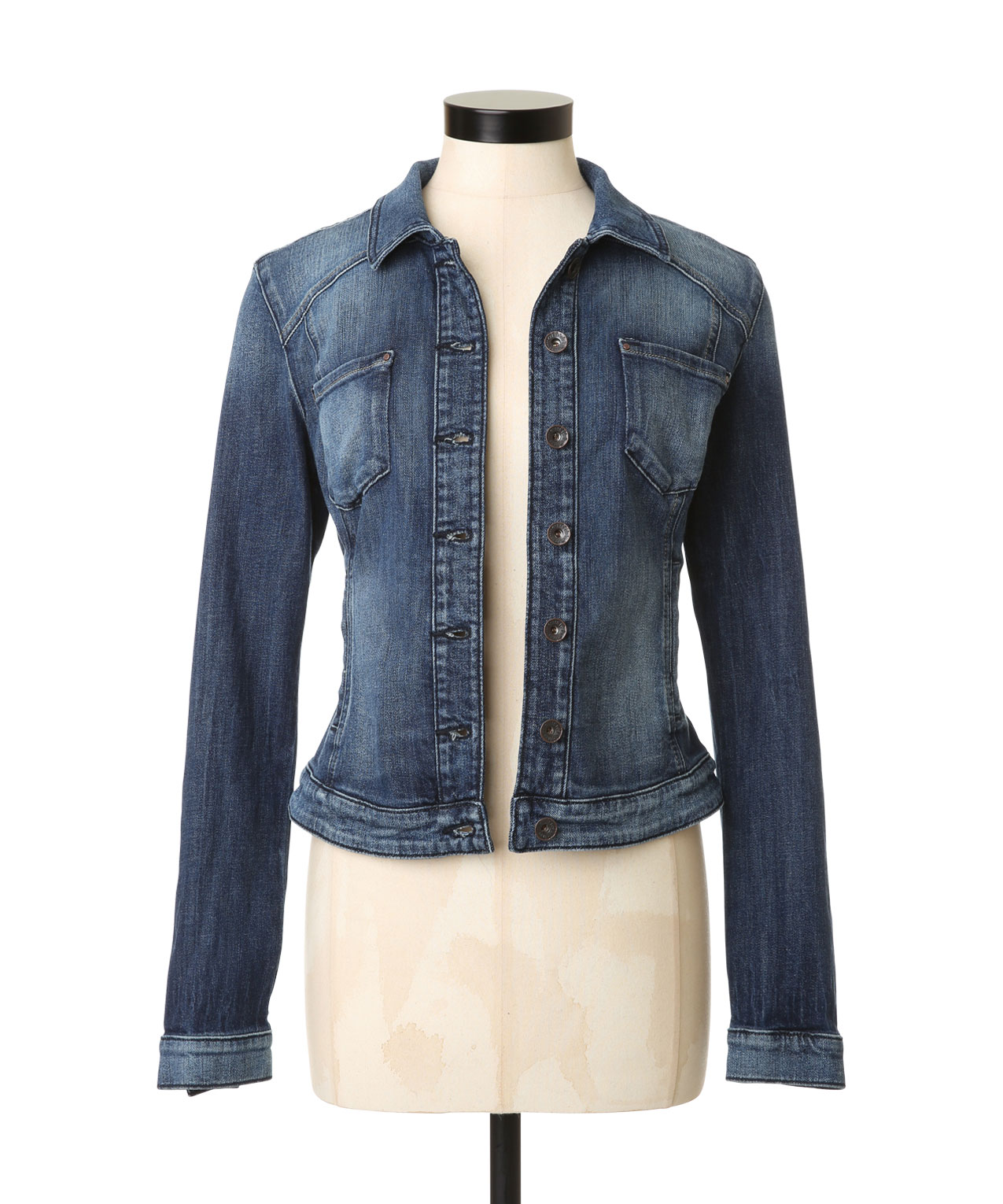 Fitted jean jackets for women