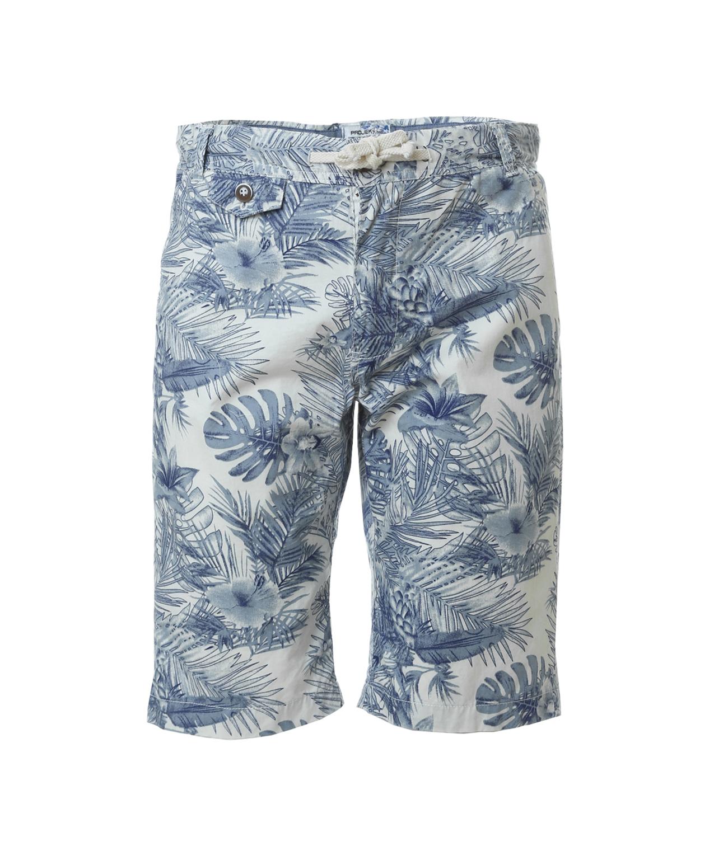 8af7c2a0c1 palm printed cargo short, WHITE/ BLUE, hi-res