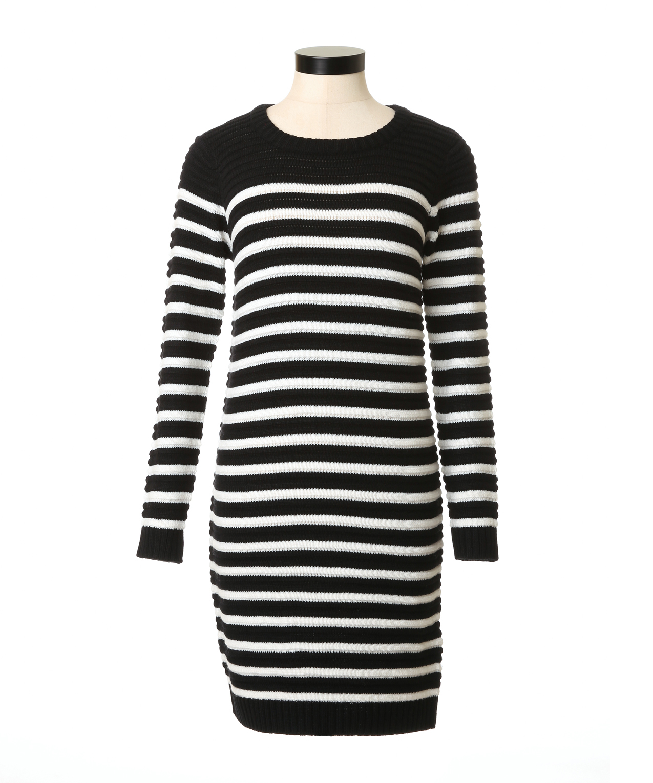 3220689e58 rib stripe sweater dress
