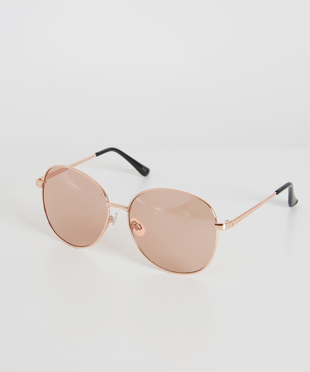 pink aviator style sunglasses, ROSE GOLD, hi-res