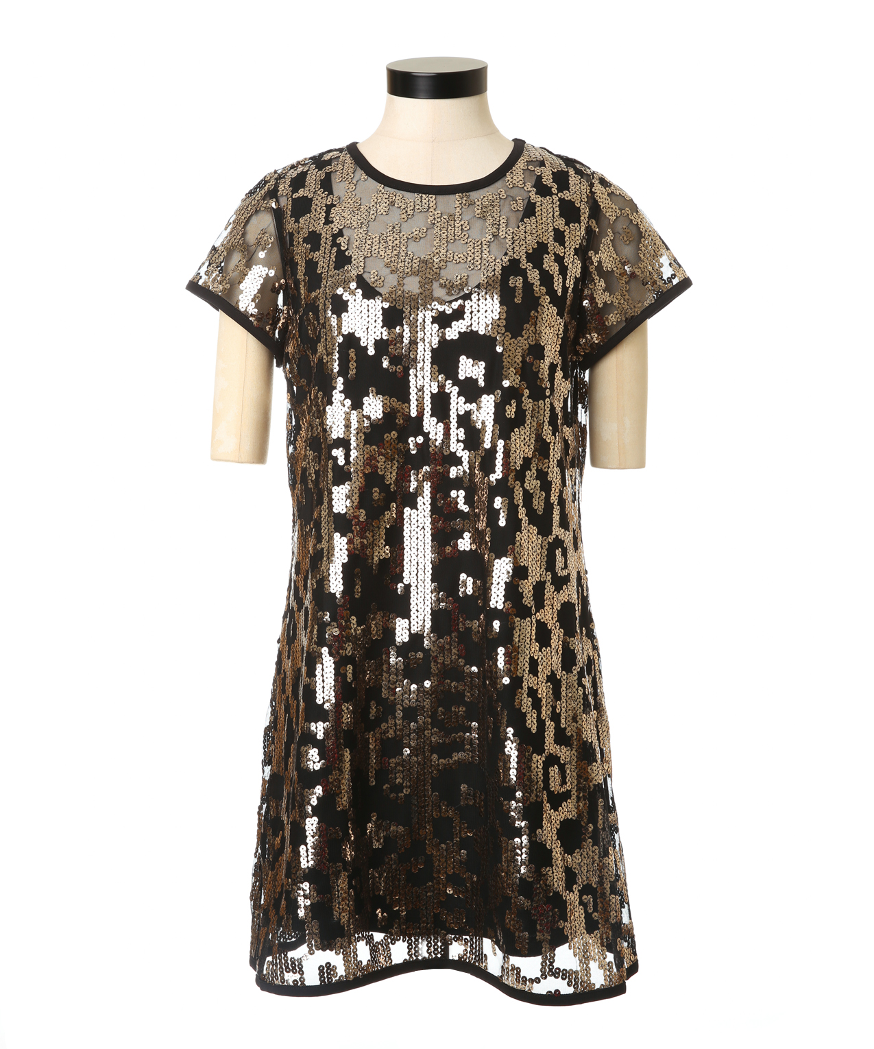 leopard sequin dress | guess