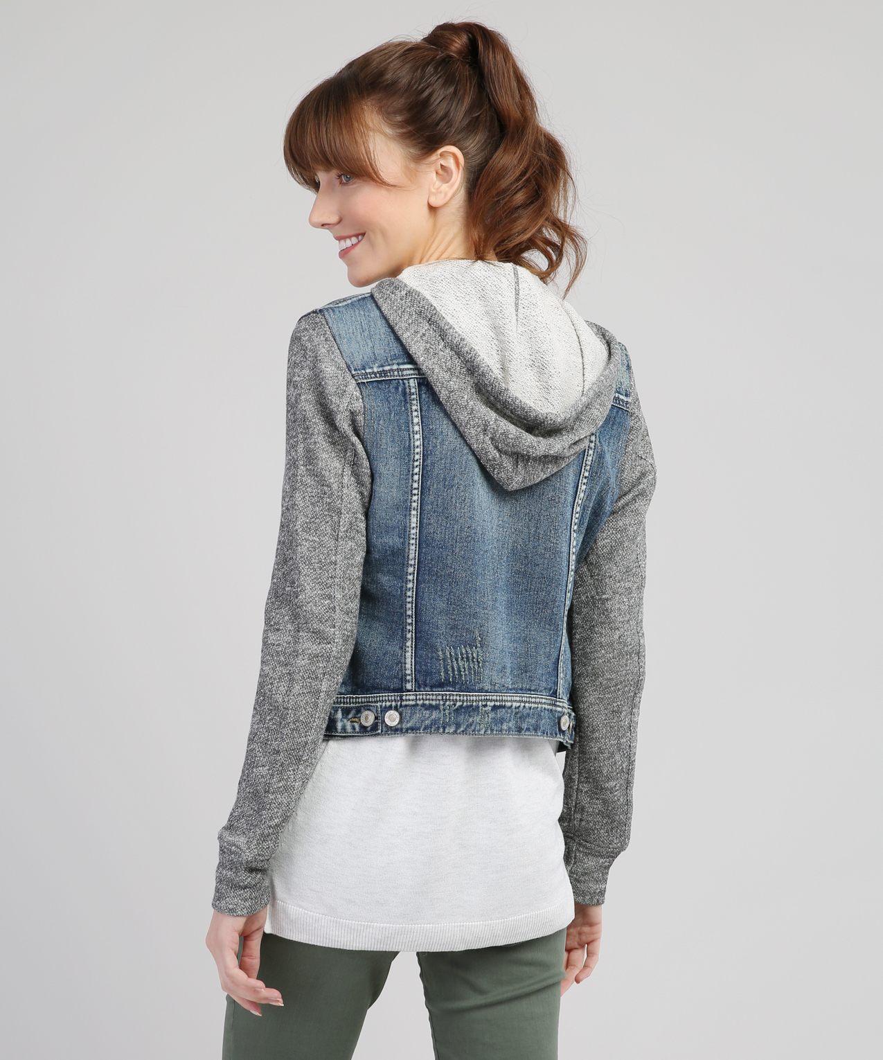 278cc9c2e79cad ... knit denim jacket