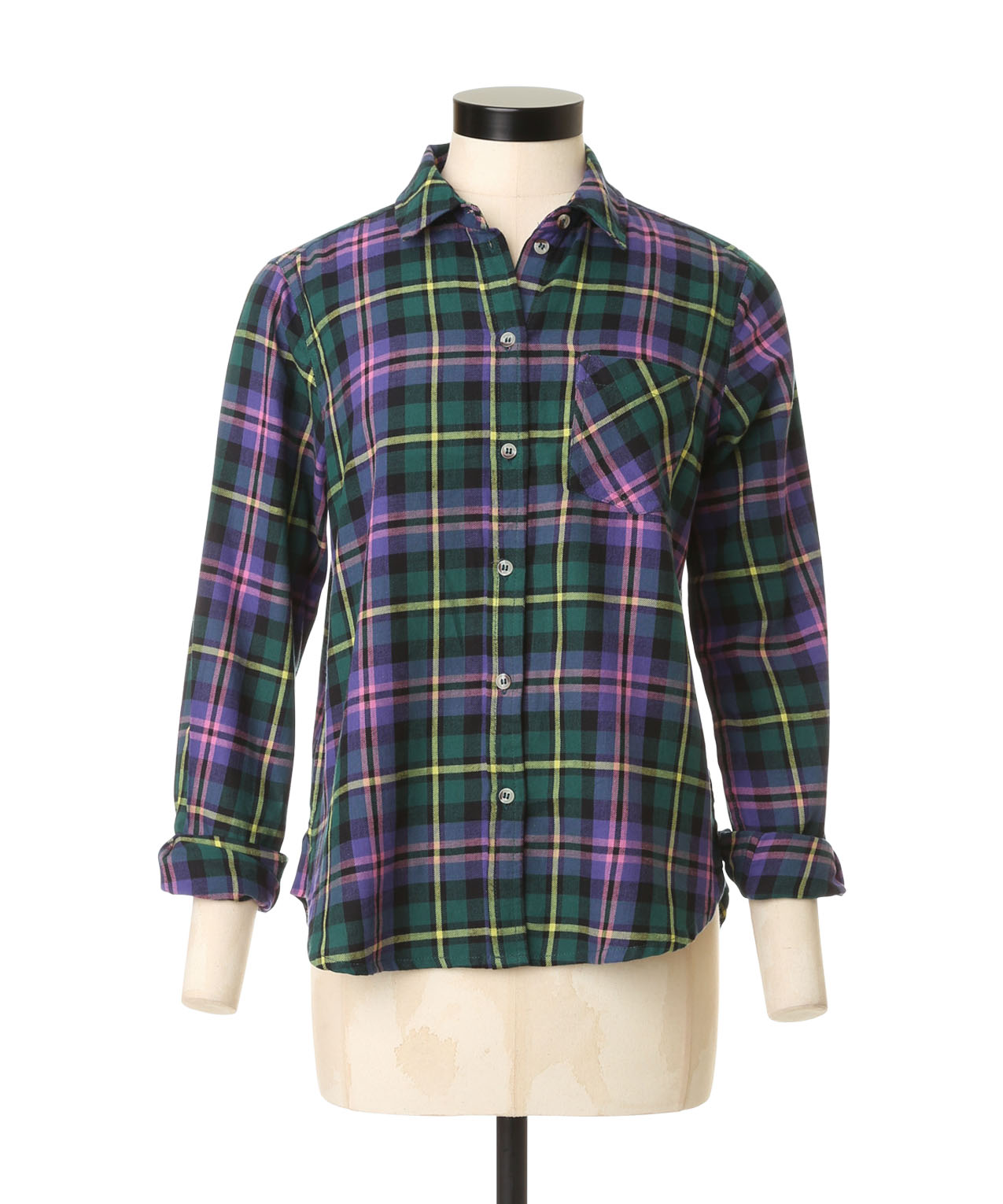 Colourful plaid shirt dex for Womens green checked shirt