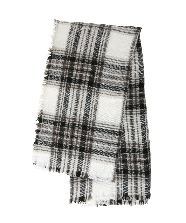 Black And White Plaid Blanket.Oversized Square Plaid Blanket Scarf