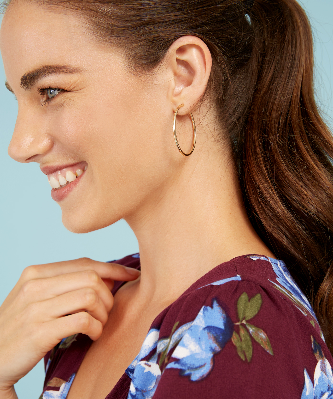 Medium Gold Hoop Earrings Hi Res
