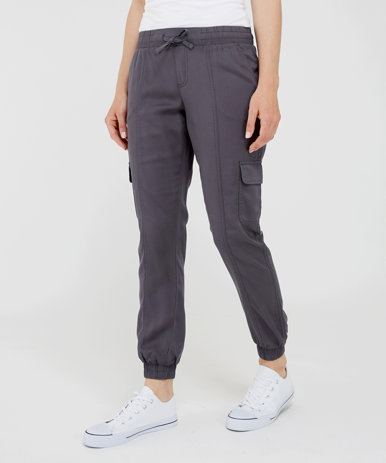 pretty cool closer at get online soft cargo jogger grey | KISMET